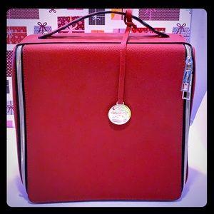 Like New Estée Lauder Large Beauty Red Bag Case